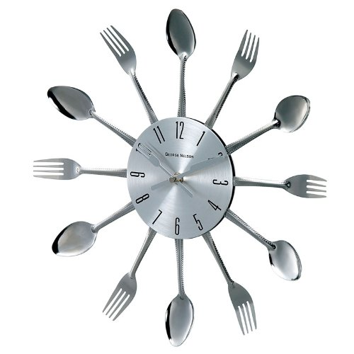 wall-clock-spoons-forks