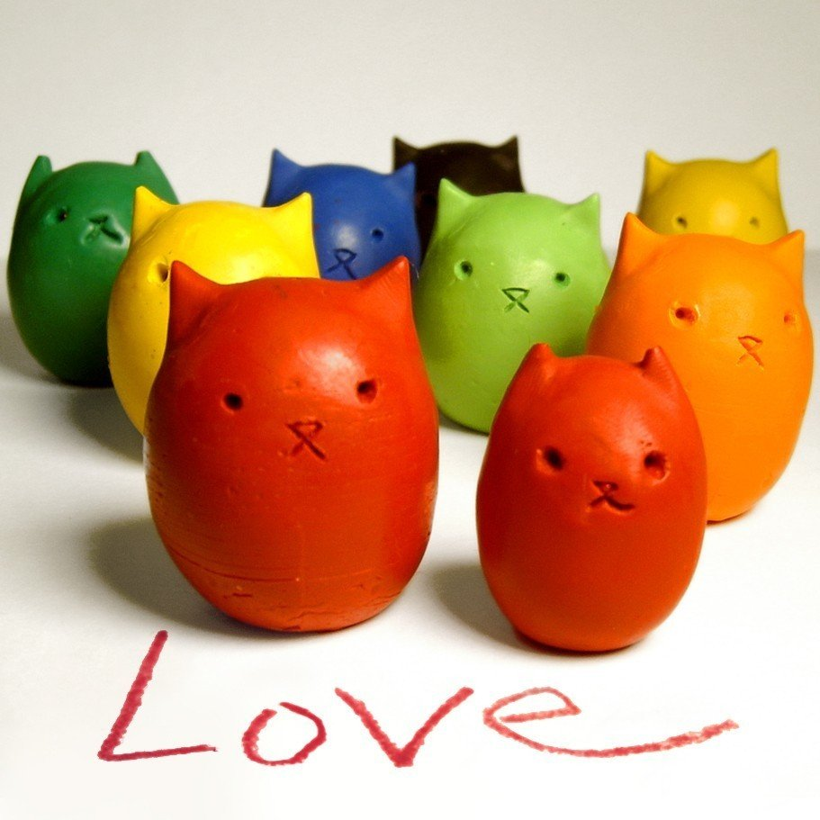 Kitty Egg Molded Crayons