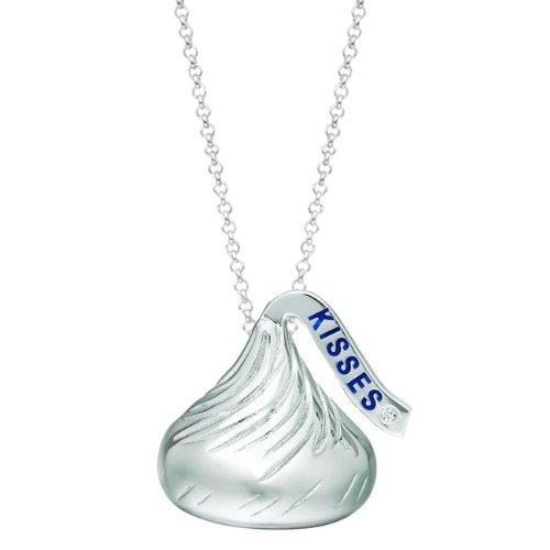 Sterling Silver Medium Flat Back Shaped Hersheys Kiss